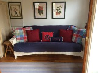 Reading Nook -- futon opens to a double bed