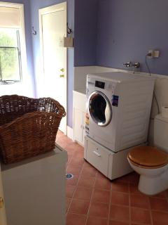 Full laundry facilities. Large, modern washer, dryer, iron.. +3rd toilet