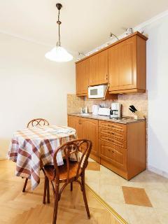 Dining area in the studio apartment