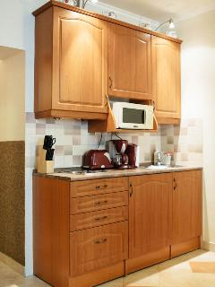 Well-equipped kitchentte (hot plates, micro, fridge, toaster, coffee maker)