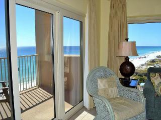 Sip morning coffee on your 2 private beachfront balconies - no roads to cross, Miramar Beach