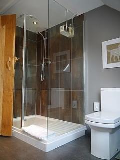 Upstairs walk-in shower room