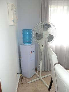 Water cooler and extra floor fan just in case.....