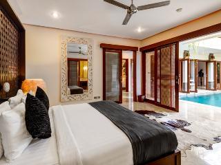 Villa Menari, Master Bedroom overlooking Pool