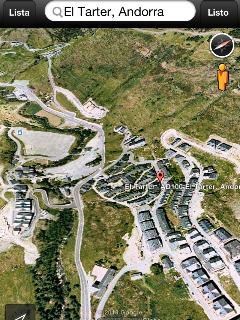 Aquí tenéis la situación exacta del apartamento en la urbanización frente acceso del Tarter.