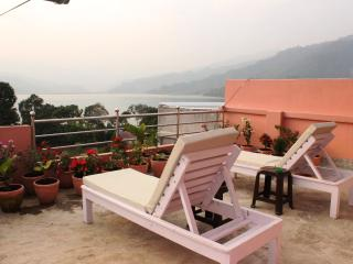 Studio with private lake view terrace, Pokhara