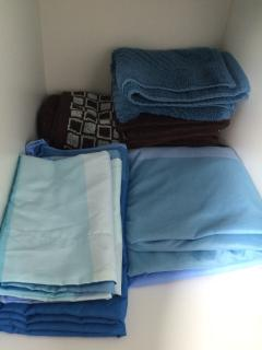 Bed sheet and towels