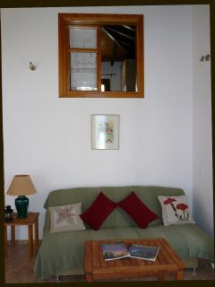 Living Room area and window from main bedroom - Sendoukia Country Villa.