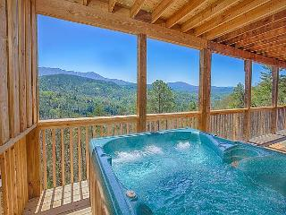 Spring from $199! Gatlinburg Cabin w Theater Room & Views. Sleeps 12.