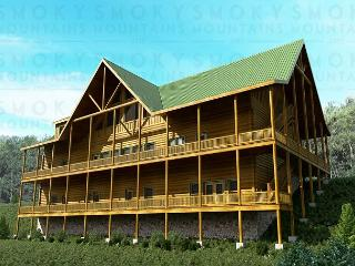 11 BR Luxurious Pigeon Forge Lodge. Sleeps 52. January Special from $499!