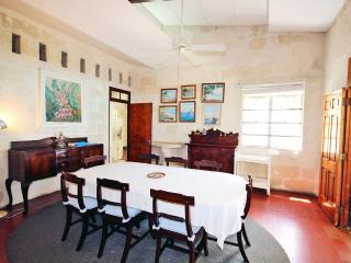 The classic dining room with seating for eight