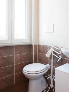 Completely renovated bathroom with shower