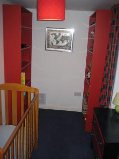 Nursery / dressing room off twin room (3.8m x 1.7m)