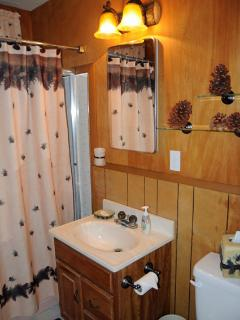 Charming Hall Bath - all rooms decorated in Mountain Ambiance