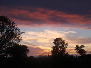 sunset from our property