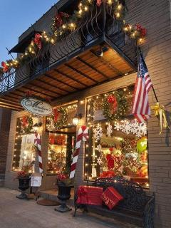 Madison's on Main in Bryson City at Christmas time.