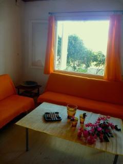 Livingroom with old furniture.
