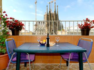 Spectacular views of the Sagrada Familia, Barcellona