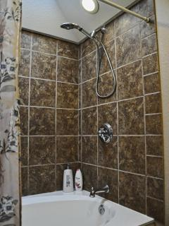 Shower in master bathroom