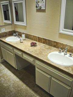 Spacious Master Bathroom includes His/Her Vanity