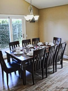Formal dining area for 8