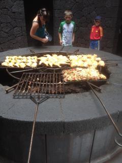 The oven at Timanfaya.