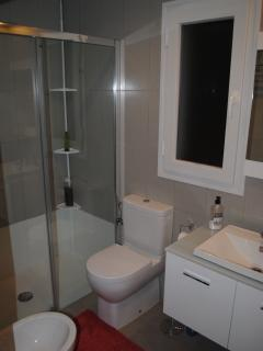 badroom - large walk-in shower, lavabo, bidet, toilet