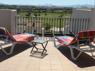 Frontline Penthouse For 4, Roda Golf:- Free WIFI;Air Con;TV;Pool;2 Bed/Bath; BBQ