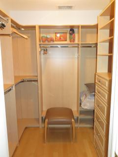 Guest bedroom walk in closet. Large walk in closets in both bedrooms.