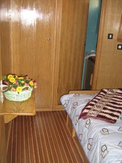 Under deck where the cabins are located is air conditioned