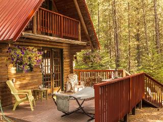 Merry Cabin, privacy in the woods, hot tub, Wi-Fi, 10 mins from town, Leavenworth