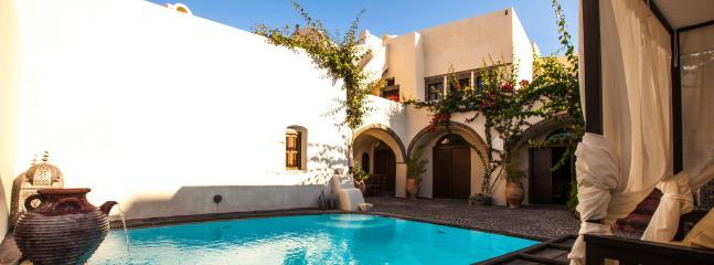 Relaxing poolside terrace