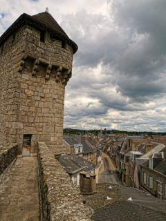 View from the medieval gateway at La Souterraine