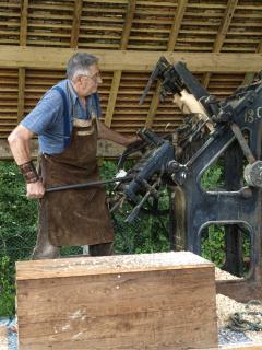 Local Clog Maker at Old Crafts Fair