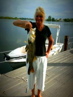Fishing off the dock of Matlacha-Cottages (photo submitted by guest)