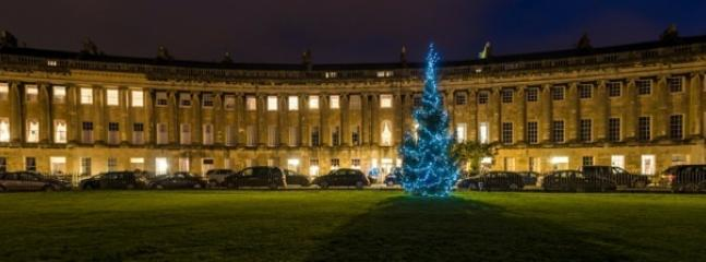 Christmas tree outside the Royal Crescent.