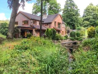 SPLASHY MILL ANNEXE, all ground floor, woodburning stove, patio overlooking
