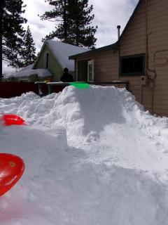 Snowed in 2010 with a nice sled ramp that we created