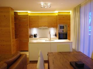 fully equipped kitchen area with island