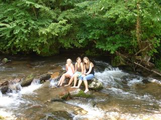 Girls enjoying the creek
