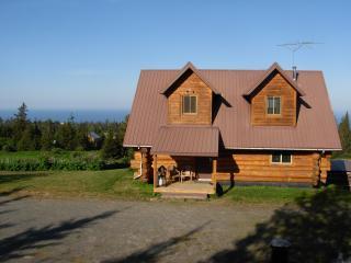 Acclaimed View Log Cabin, Panoramic Views -, Homer