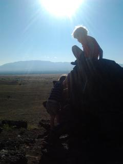 GRANDSON AT VOLCANO JUST WEST OF CASITA