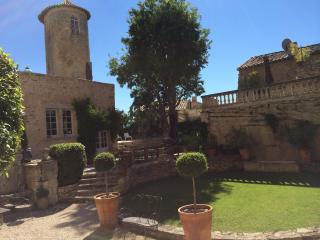 Chateau de Goult, Gordes, Rental in Unique Setting with a Pool and Fireplace