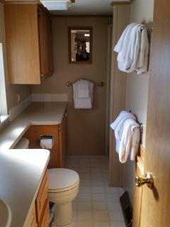 Another view of the bathroom.  Shower located on the right side.