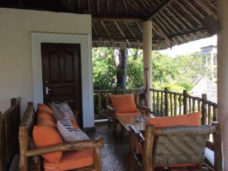 The upstairs terrace and lounge area for relaxing and watching the sun go down!