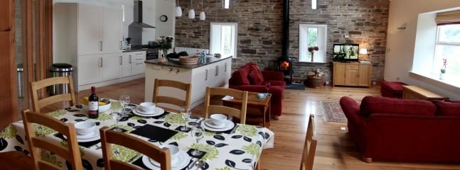 The open plan living area has a kitchen/diner and living room all on one convenient level.