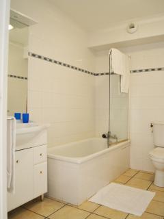 baignoire ou douche selon taille de l'appartement