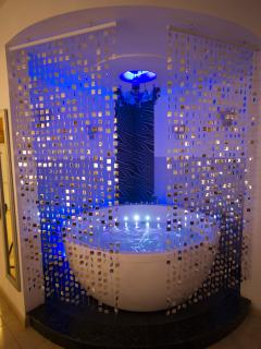 Jacuzzi Spa in soft blue coloured lighting