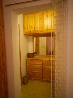 Walk in wardrobe before entering Ensuite in Main Bedroom