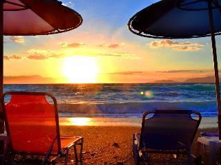 Enjoying the sunset at the beach
